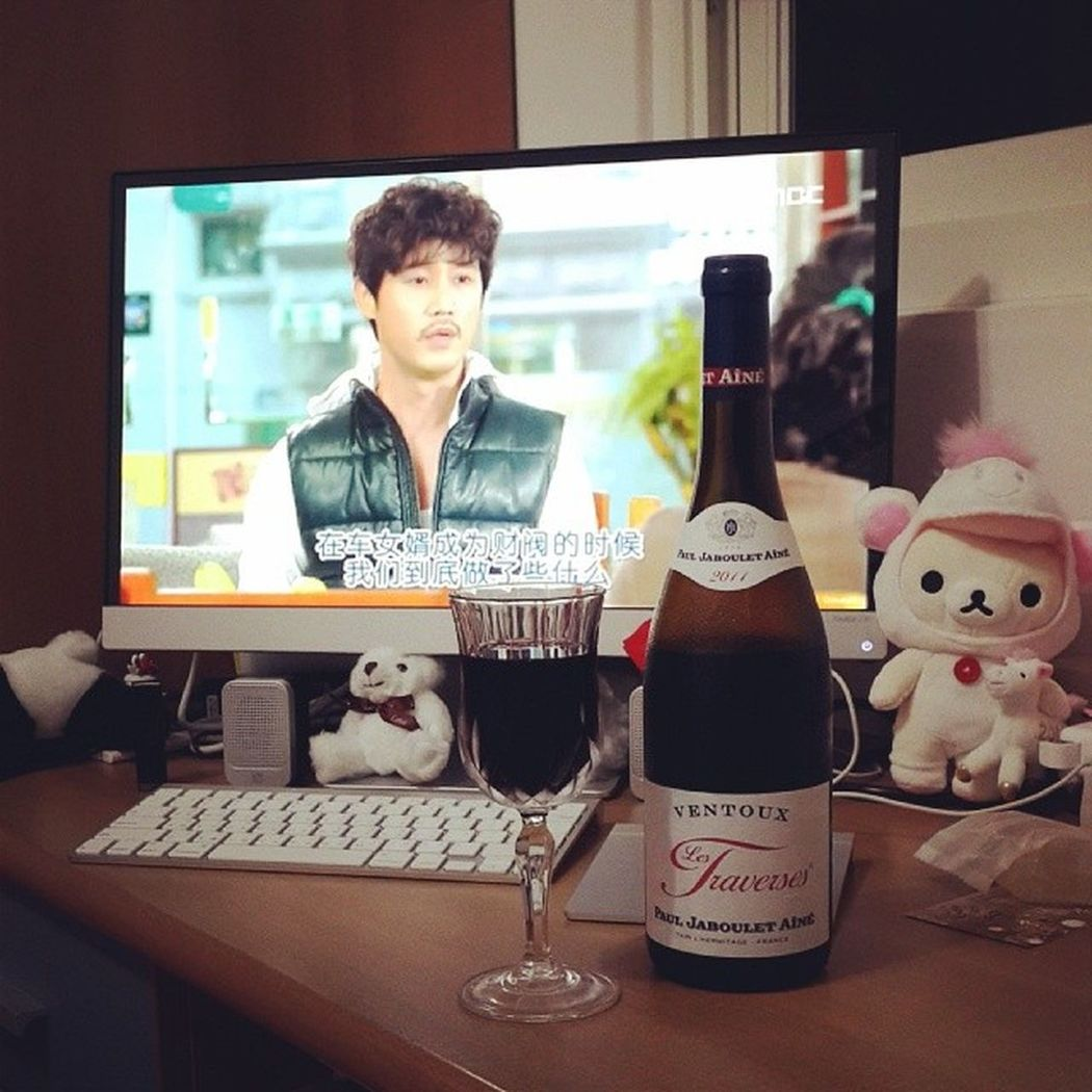 Drama fits best with wine Koreandrama Redwine Enjoy Alonelife