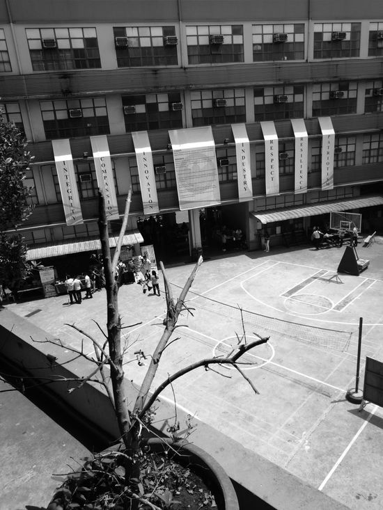 High Angle View Day No People Outdoors YearOfDualCam AStepAhead HuaweiP9Photography HuaweiP9 Oo Blackandwhite Blackandwhite Photography Welcome To Black The Secret Spaces