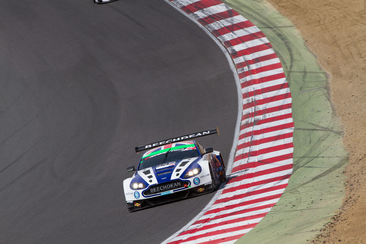 Aston Martin GT3 Aston Martin Gt3 Auto Post Production Filter Beechdean Brands Hatch British Gt Car Direction Directly Above High Angle View Land Vehicle Mode Of Transport Motorsport On The Move Racing Red Single Object Transportation Vehicle