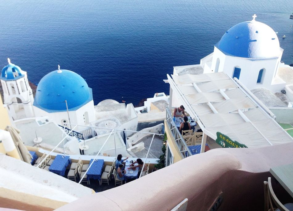 Traveling Holiday Europe Beautiful Greek Islands Scenery View Greece