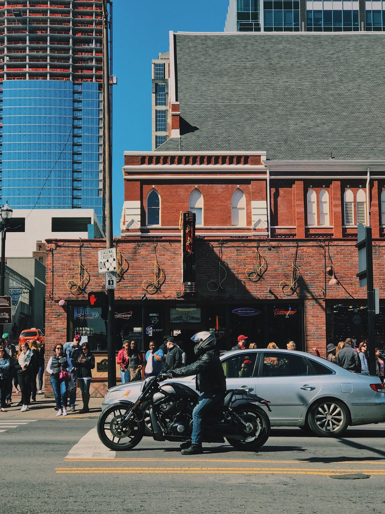 Building Exterior Architecture City Street Land Vehicle Transportation Outdoors City Life Large Group Of People
