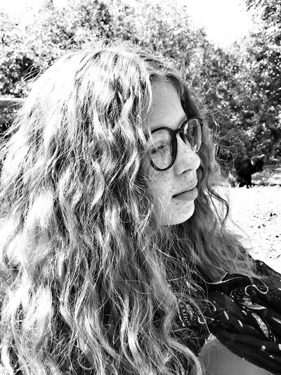 My love 💜 One Person Real People Lifestyles Human Face Headshot Portrait Nature Eye4photography  Blackandwhite France Blackandwhite Photography EyeEmBestPics Black And White Portrait