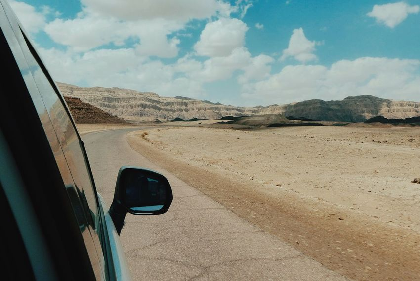 Deserts Around The World Timna Negev  Israel Traveling Desert Road Trip Eye4photography  Sky The Great Outdoors - 2016 EyeEm Awards Mein Automoment Feel The Journey