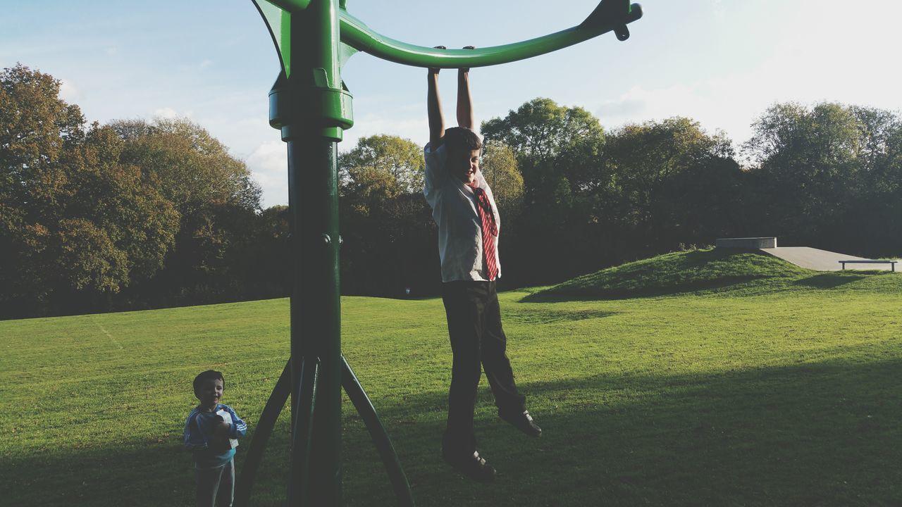 Messing Around My Boys Park Having Fun