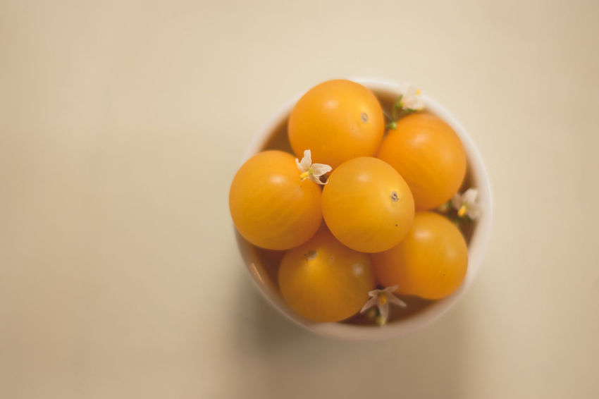 Cherry Tomatoes Close-up Food Food And Drink Freshness Fruit Healthy Eating Indoors  Pretty Studio Shot Sweet Food Tomato White Background Yellow