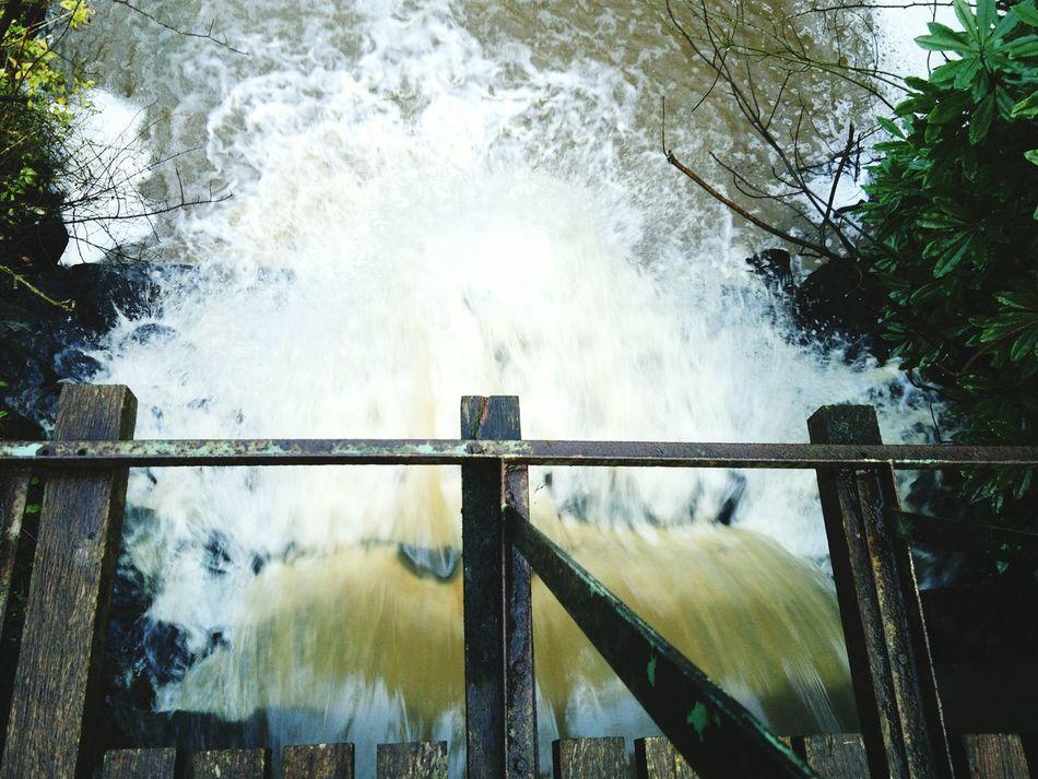 Waterfall Merseyside Wirral Arrowe Park Arrowe Brook