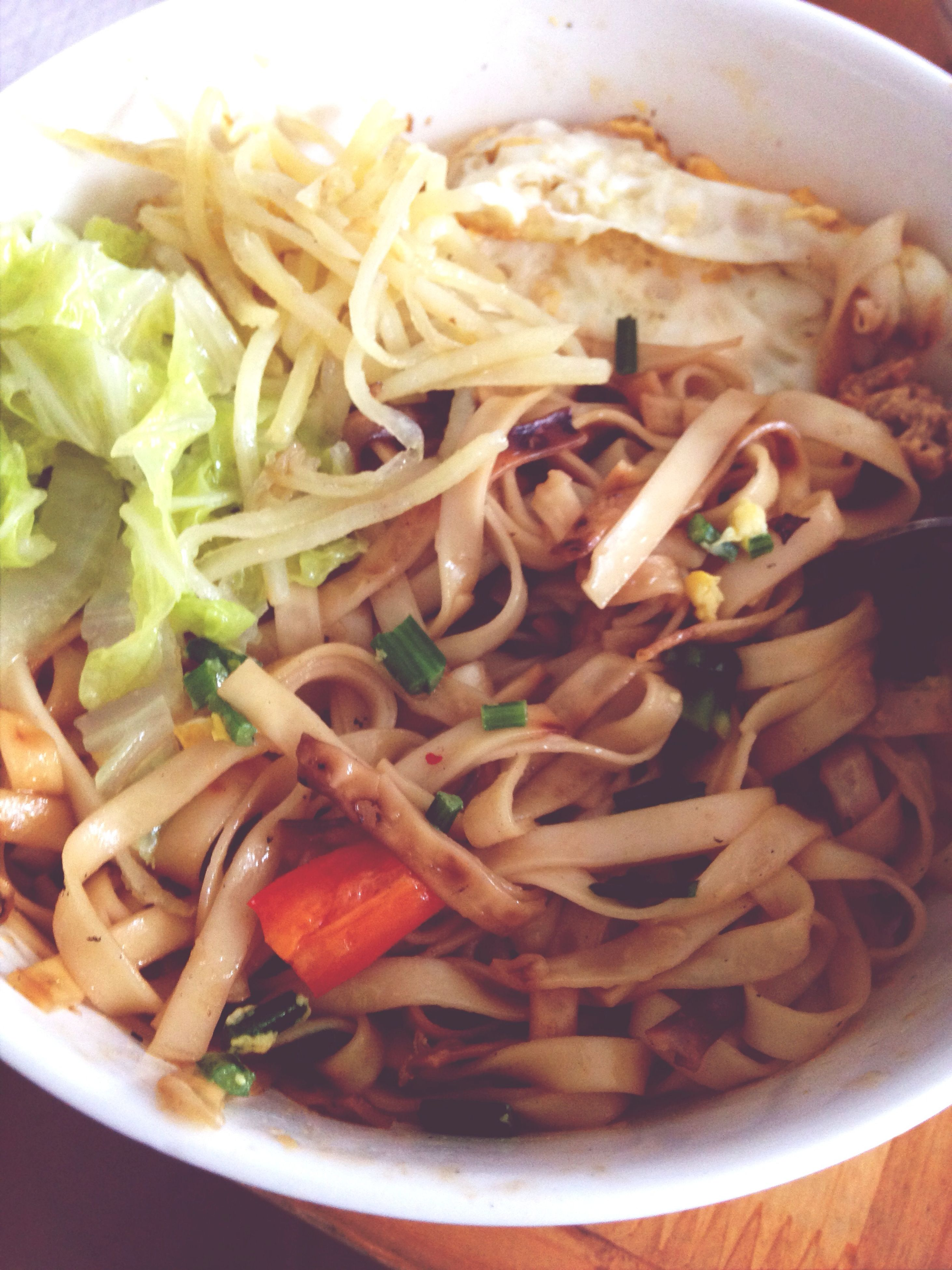 food and drink, food, freshness, indoors, ready-to-eat, plate, meal, close-up, healthy eating, serving size, still life, noodles, indulgence, pasta, meat, cooked, bowl, high angle view, healthy lifestyle, seafood