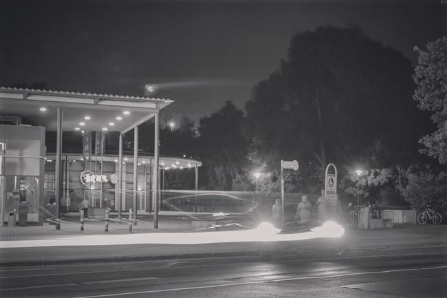 ~ ✴🚗 ~ Night Illuminated Road Street Transportation Motion Car City City Street Outdoors City Life Sky Dark Architectural Feature Light And Shadow Streetphotography Architecture Long Exposure Exposure Architecture_collection Lighttrails Night Lights Night Photography Canonphotography Streetphoto_bw