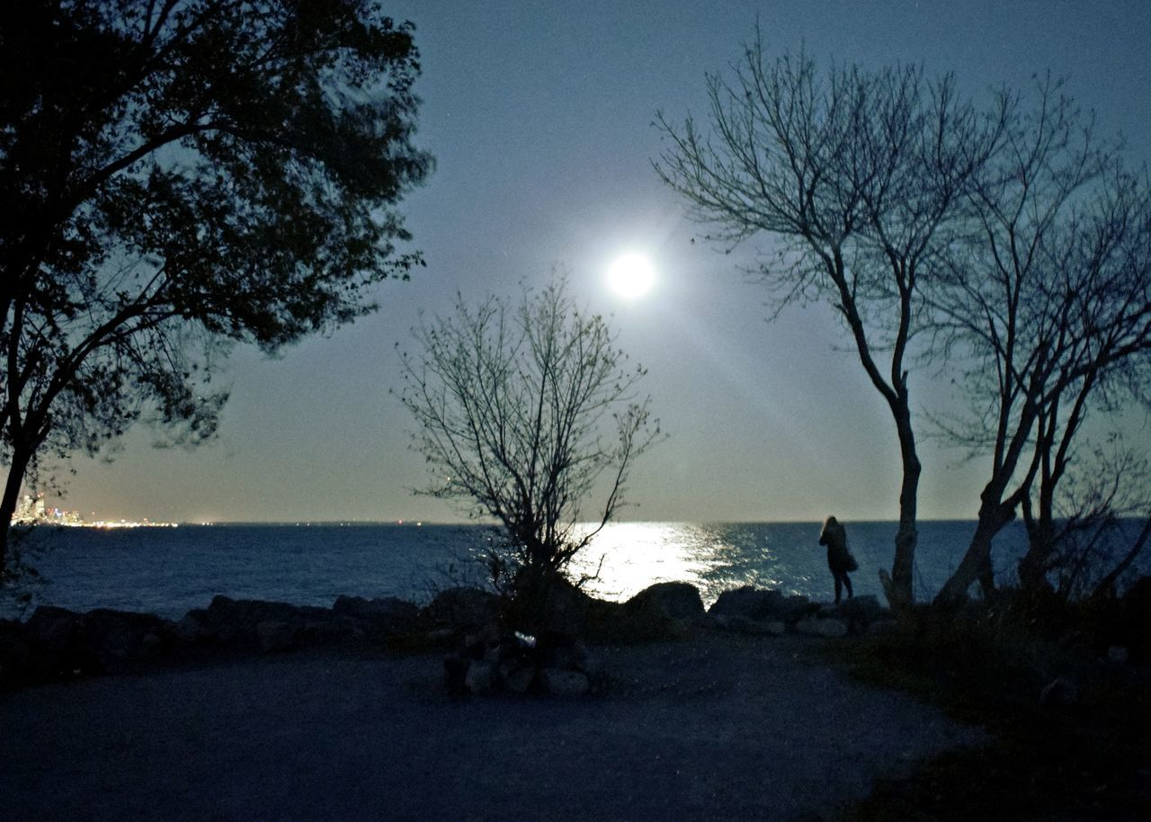 6ix Beauty In Nature Etobicoke Horizon Over Water Lake Moon Night Ontario Reflections In The Water Silhouette Sky Supermoon2016 Toronto Canada Water