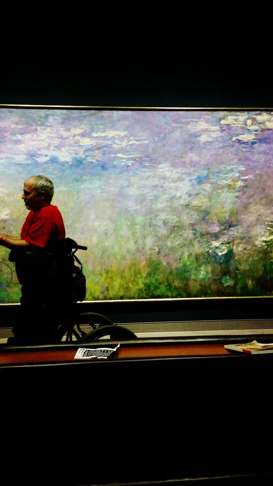 Monet Water Lilies. Lilly Pads. One Person Irwin Collection EyeEm Gallery Getting Inspired Art Gallery Art Museum Man Wheelchair Enjoying Life