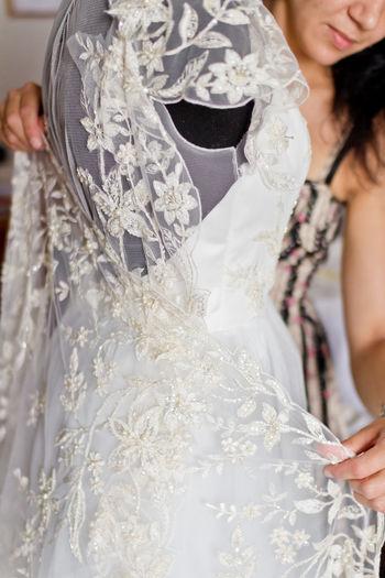 Tailored To You Lace Dress Lace Making White Dress White Background Wedding Dress