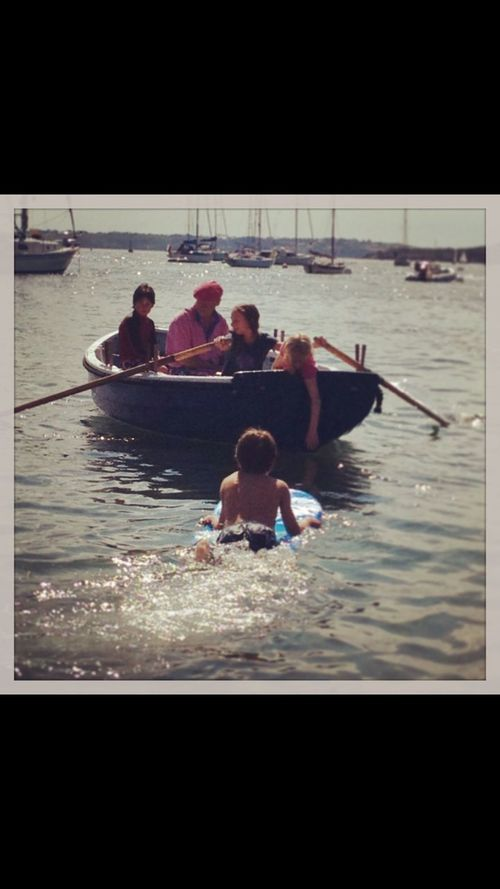 St Mawes in Cornwall is my spiritual and family home. My family are sailors and we have our family run pilot cutter, who lives in the harbour. She is the wood that holds our family together! Swimming Fun In The Sun... Family Fun Family Rowing Rowing Boat St Mawes Harbour Cornwall Uk St Mawes Cornwall Sea People Of The Oceans