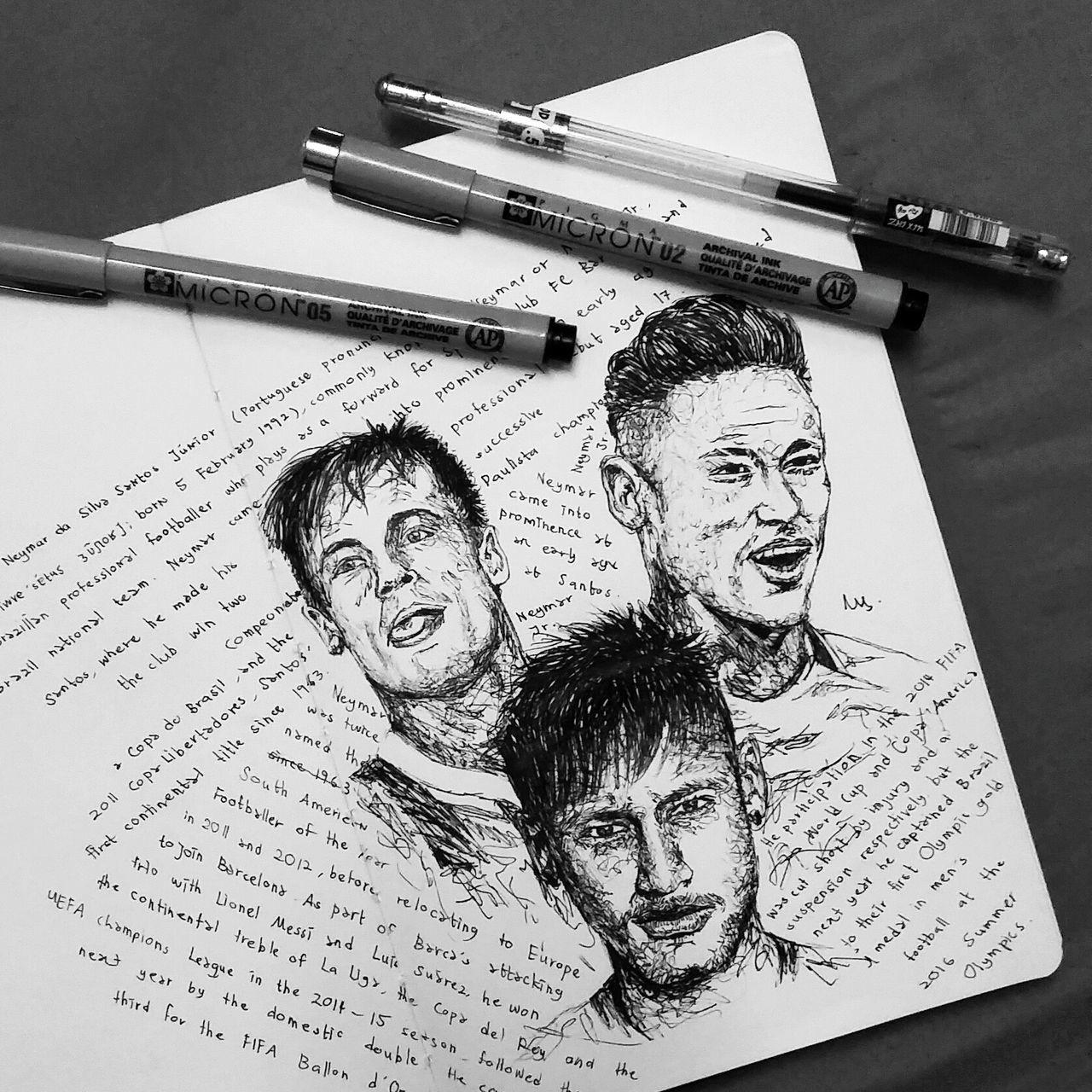 NeymarJr. Footballer Neymar  Sketch Artline Myartwork Artist LINE Scribble by me.