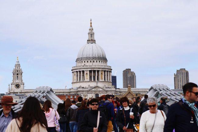St Paul's Cathedral London Tourism Historical Building Tourist Attraction  Architecture Millenium Bridge South Bank