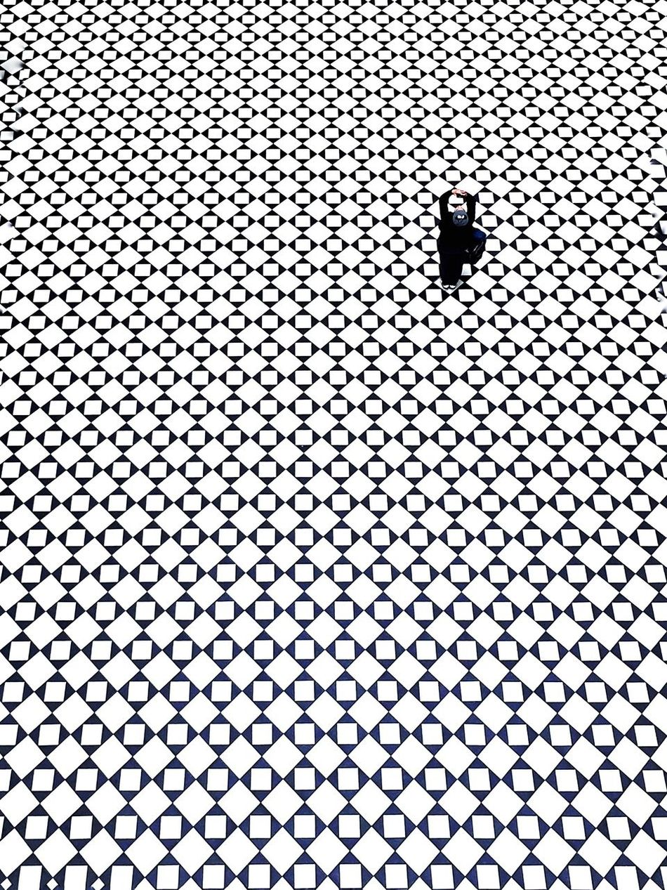 Beautiful stock photos of abstract, Arms Raised, Berlin, Black Color, Checked Pattern