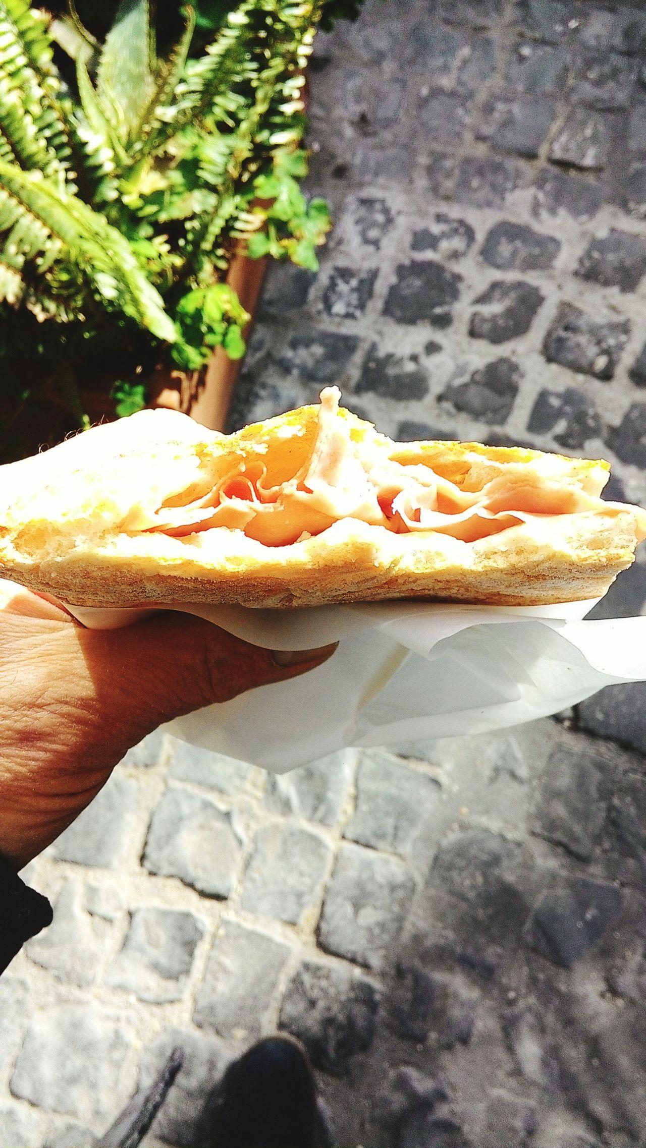 Street Food in Rome near Trevi fountain.