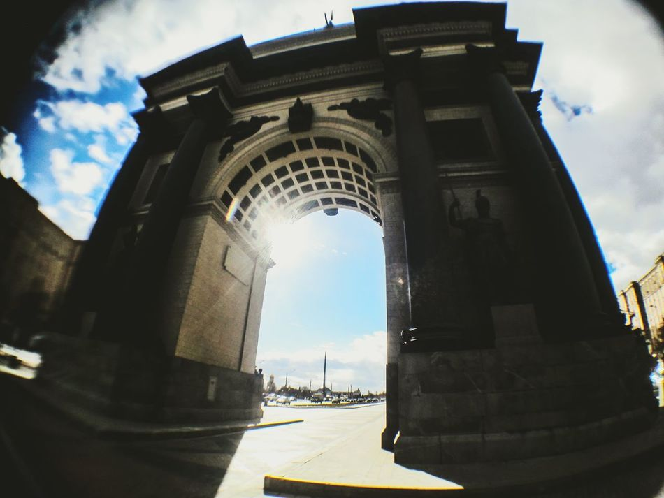 Triumphal Arch Moscow Moscow City Central Park Park No People Architecture Triumphal Arch Day Arch Sky Cloud - Sky Low Angle View 180° Sumsung Enjoying Life Lifestyles Onelive Streetart