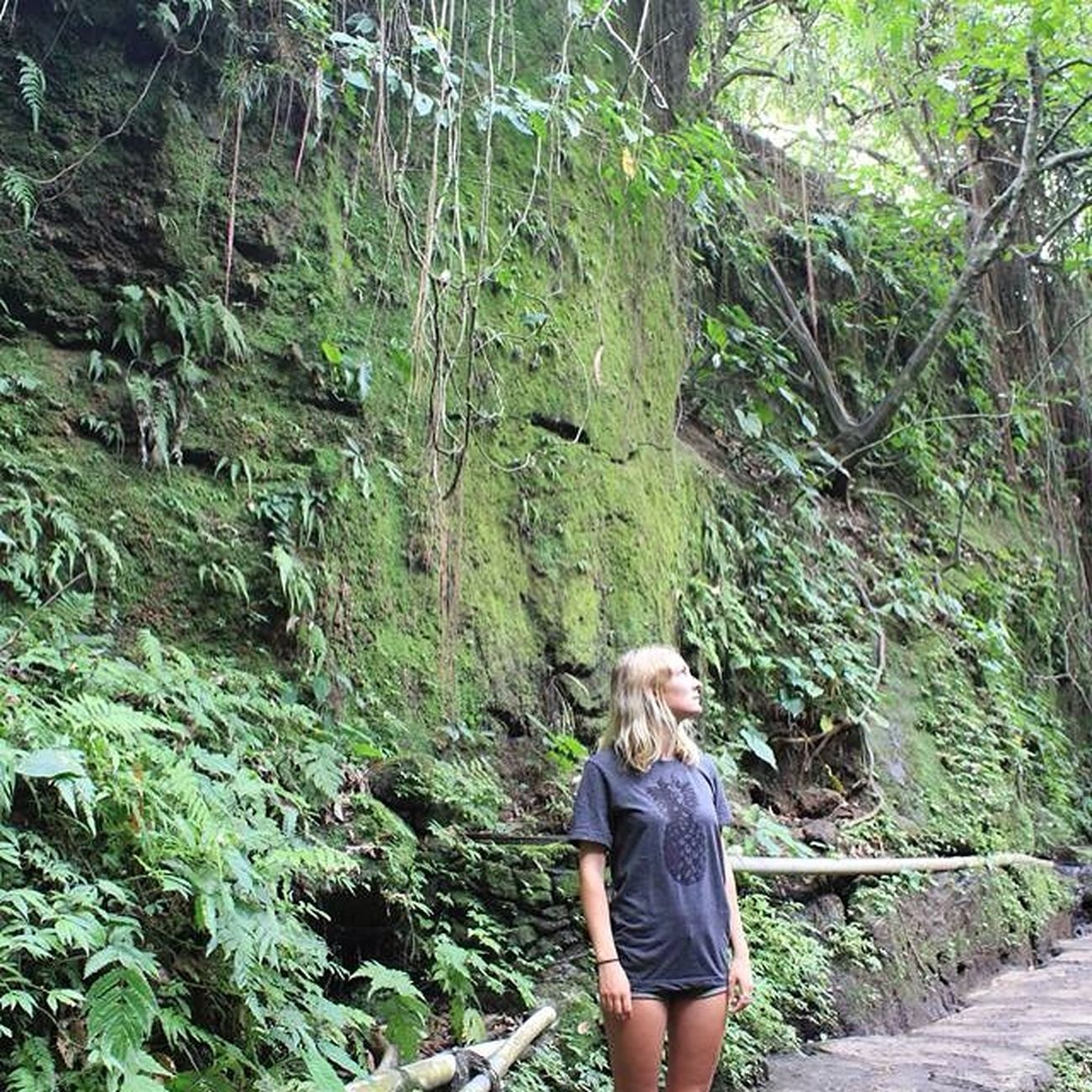 Girl French Blonde Forest Holiday Summer Traveling MonkeyForest Ubud Bali