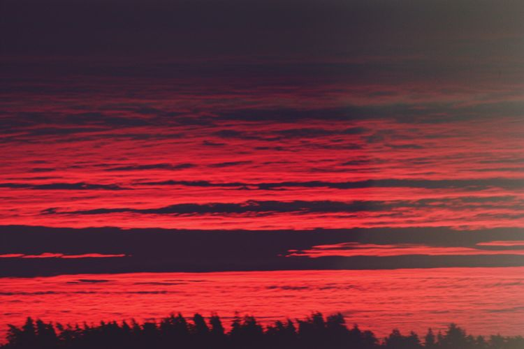 Sunrise Sky Majestic Beauty In Nature No People Idyllic Colorful Red Sky Amaturephotography Norway