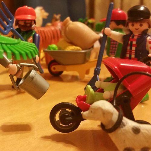 Tarde de juegos con el sobri. Si los Playmobil me saturan... eso es q estoy madurando??? Playmobil Mascansadoqenelgym