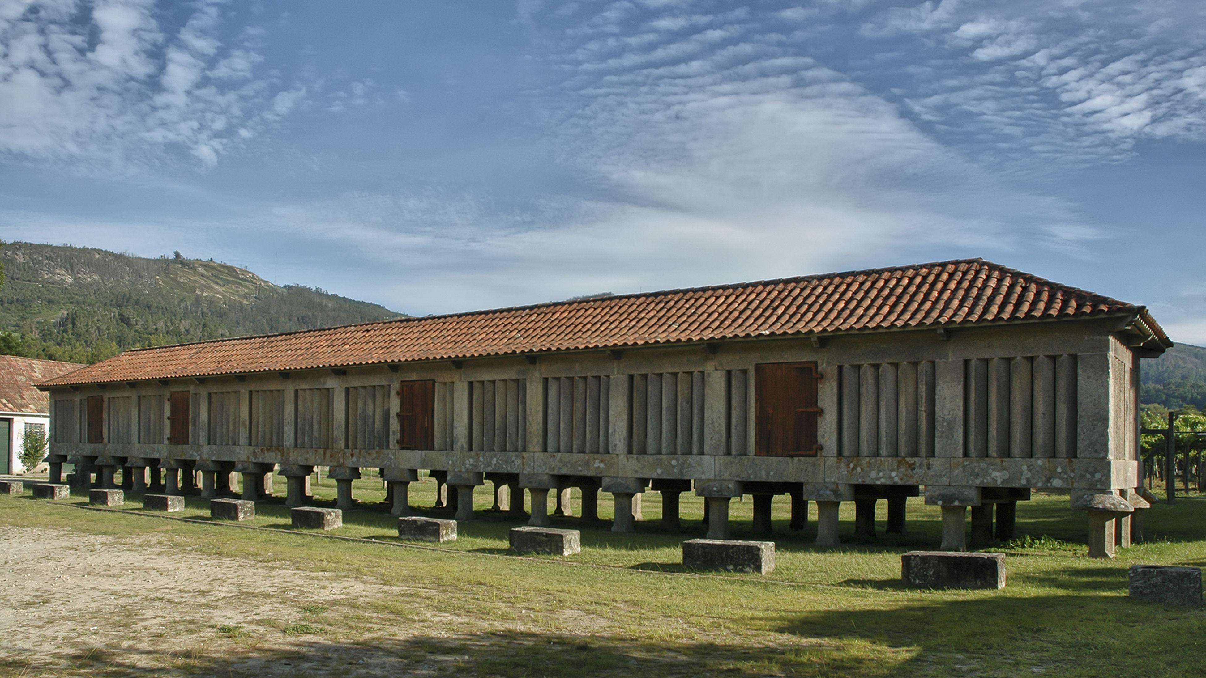 Architecture Built Structure Horreo Del Monasterio De Poio Hórreo De Galicia Turism