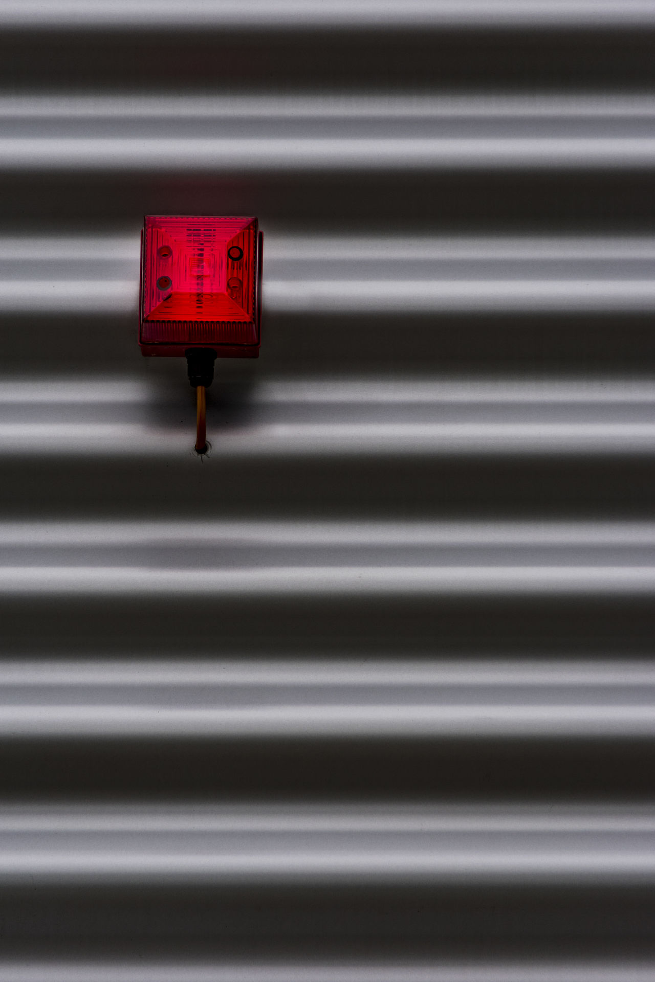 corrugated iron Black Close-up Corrugated Iron Day Fire Alarm Hamburg No People Outdoors Pattern Red Red Light Texture