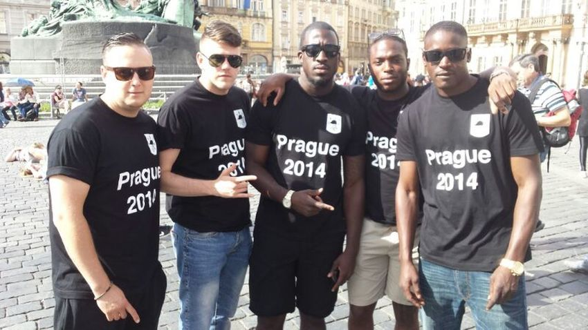 First day in prague Praguelife Prague Old Town Throwbackthursday  BIFC Football Tour