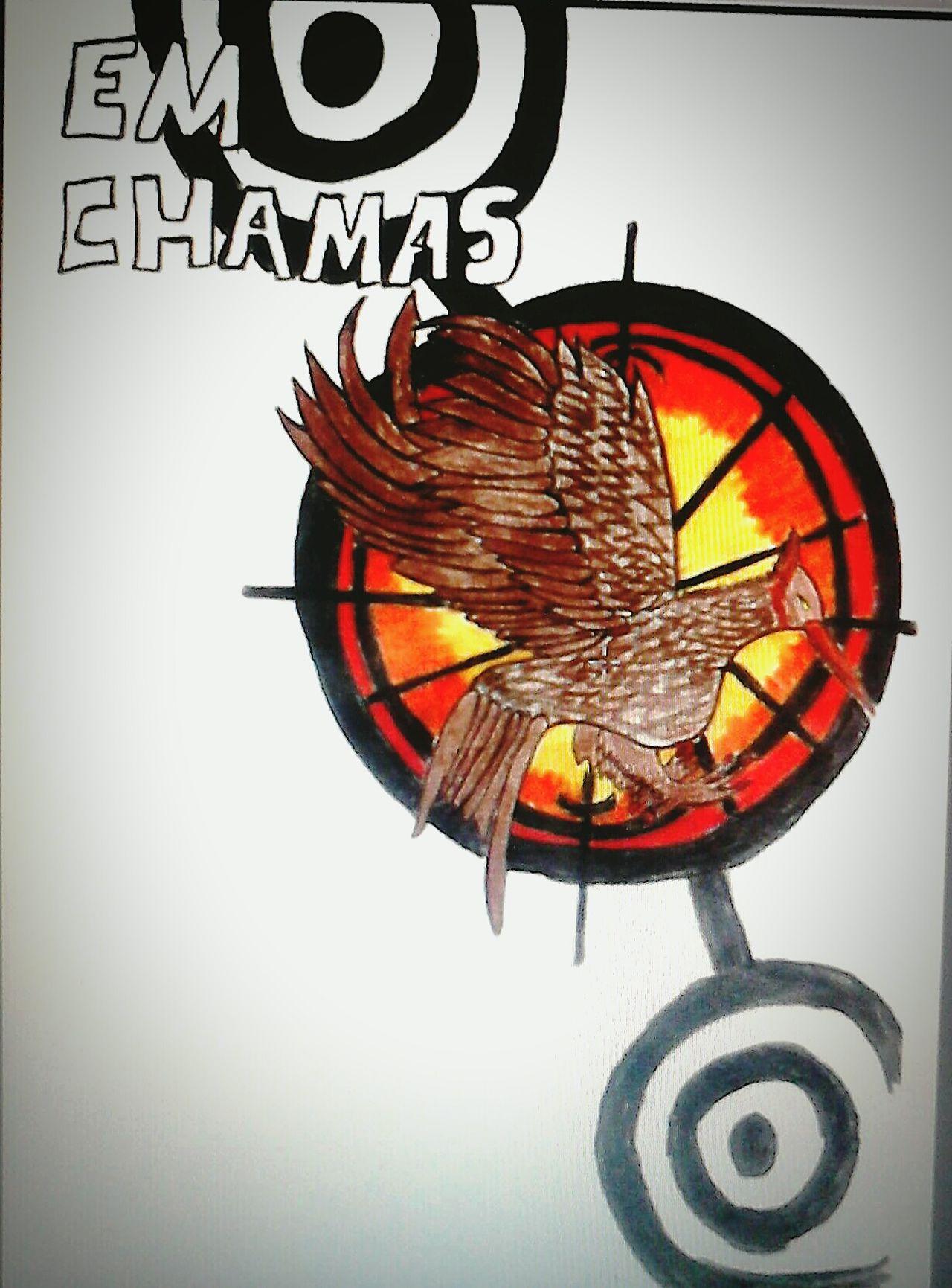 Em chamas ♥♡ Hello World Thg JogosVorazes Thehungergames #emchamas Leitura Night [Desenho