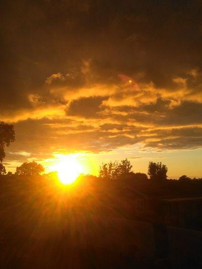The sun goess to sleep