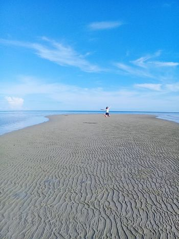 Jumpshot!😂 Sand Beach Blue Sky Horizon Over Water Nature Cloud - Sky Outdoors Water Day No People Beauty In Nature Philippinesphotography EyeEmNewHere 2017 Landscape Vacations