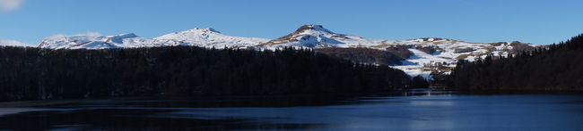 Lac Pavin Auvergne Montsdusancy Lake Lake View Ice Panoramic Photography Winter Snow Montains    January Panorama Blue Sky Crater Lake Landscapes With WhiteWall Iloveauvergne