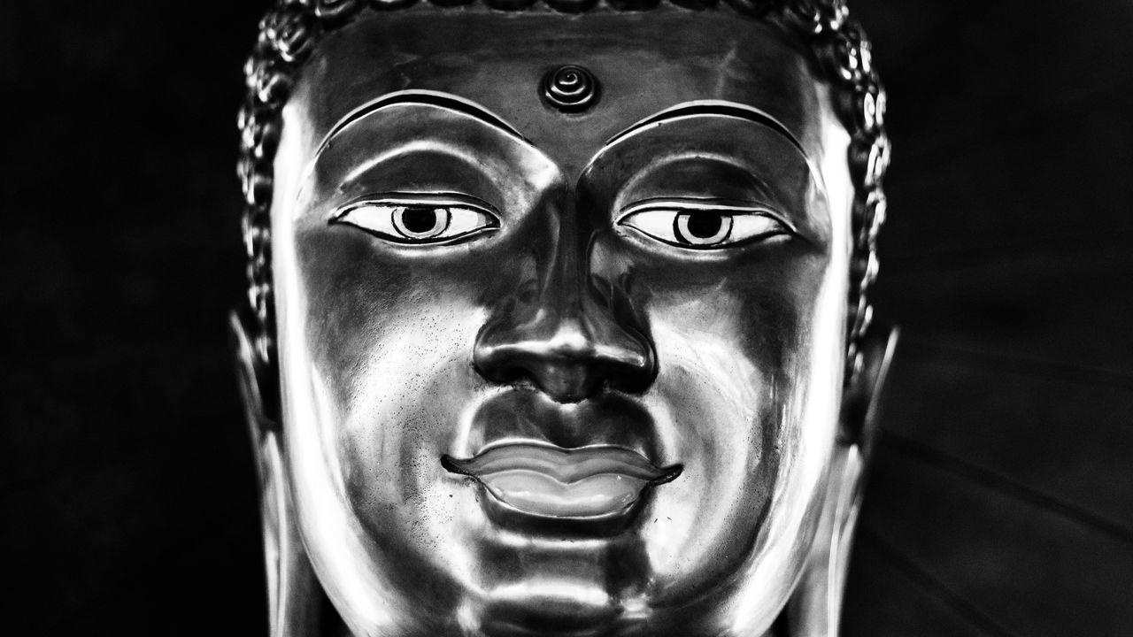 B&w Buddha Buddha Art Buddha Head Close-up Day No People Sculpture Thailand