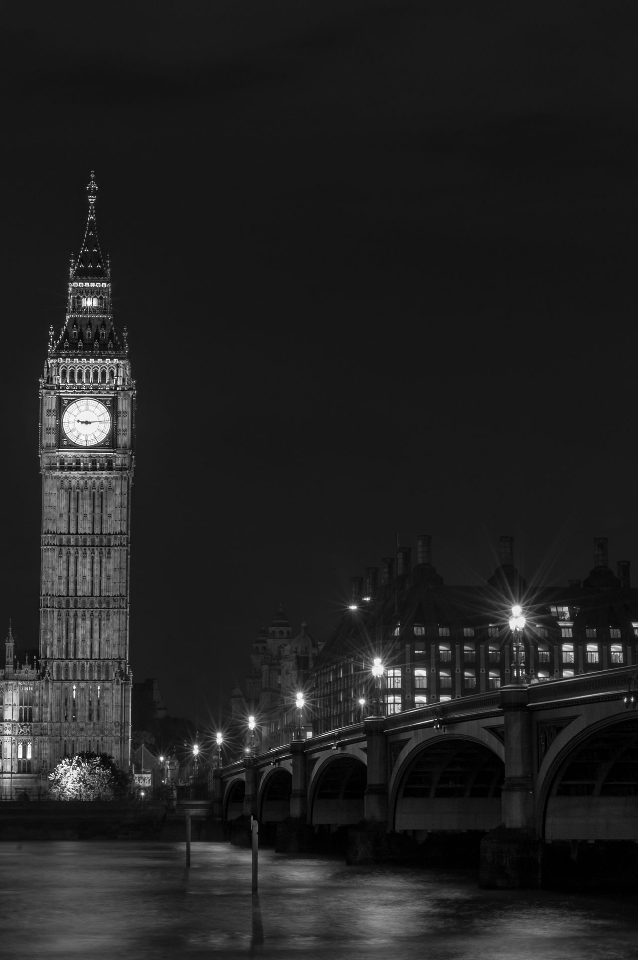 Architecture Big Ben Bridge - Man Made Structure City Cityscape Clock Clock Face Clock Tower Cultures Government Midnight Night No People Outdoors Politics And Government Time Tourism Tower Travel Destinations Westminster Westminster Bridge