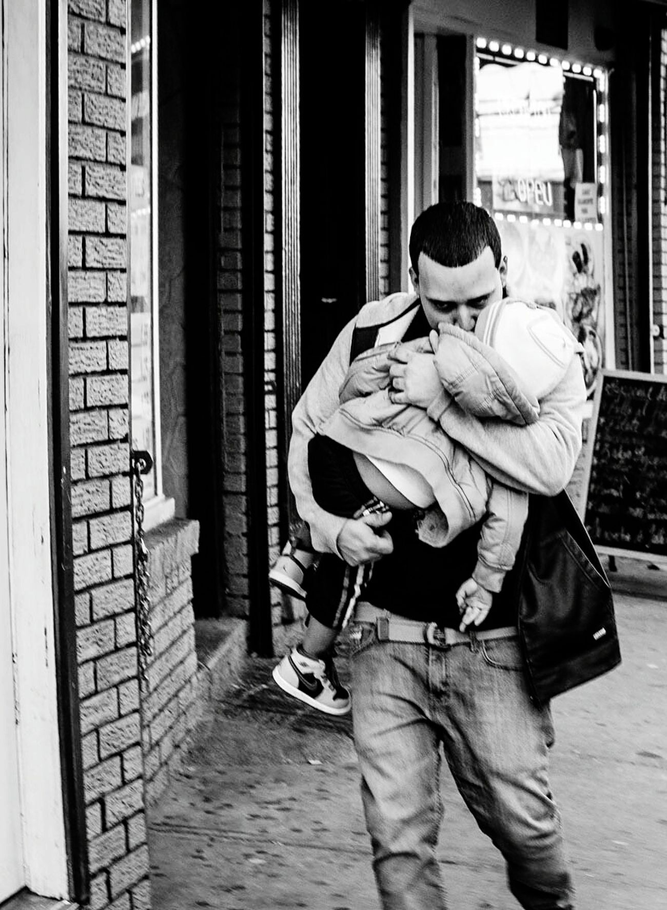 Fathers Day 2016 Taking Photos Streetphotography Photography Everybodystreet Hikaricreative Blackandwhite Check This Out Street Capture People People Watching Portrait The Street Photographer - 2016 EyeEm Awards Dadslife Father & Son