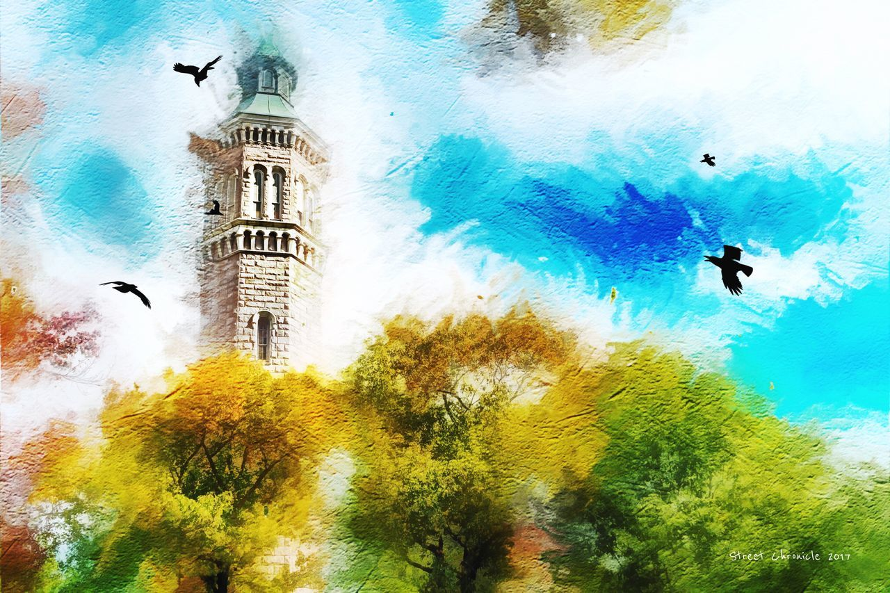 Real People Built Structure Tree Water Animal Themes Architecture Day Building Exterior Outdoors Sky Adventure Nature One Person People Fashion Digital Art Artistic Art, Drawing, Creativity Lifestyle Arts Culture And Entertainment Style Artist Art Art Gallery NYC