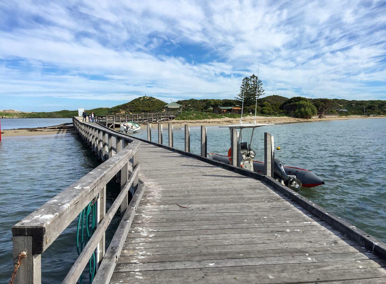 Beautiful stock photos of pinguin, Boat, Built Structure, Cloud - Sky, Coast