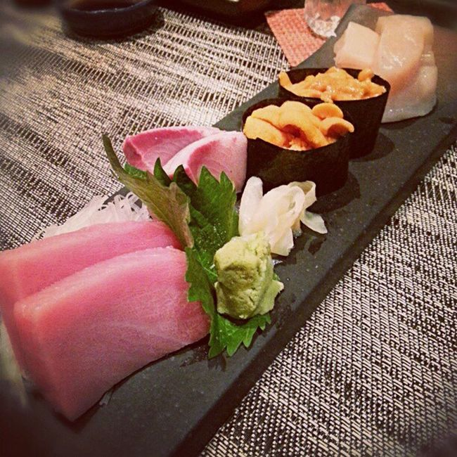 Japanese  Christmas dinner Yum Foodporn sushi sashimi