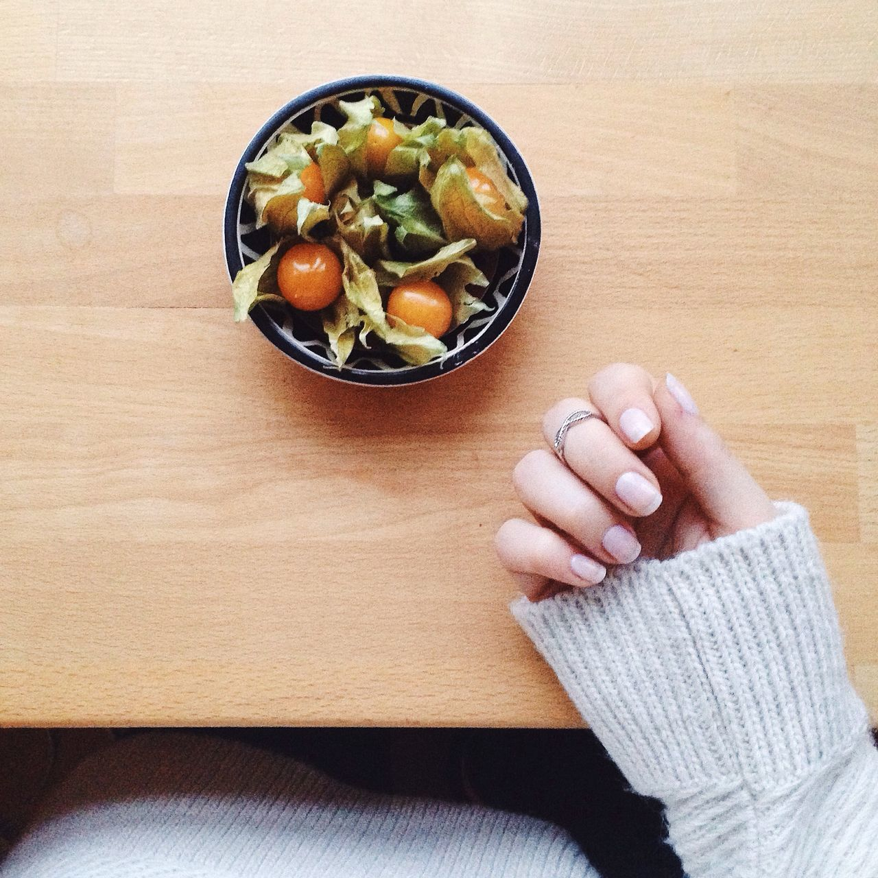 Keeping it simple today Fruit From My Point Of View Holiday POV Simplicity Vintage Ootd Sweaterweather Blogger Nails