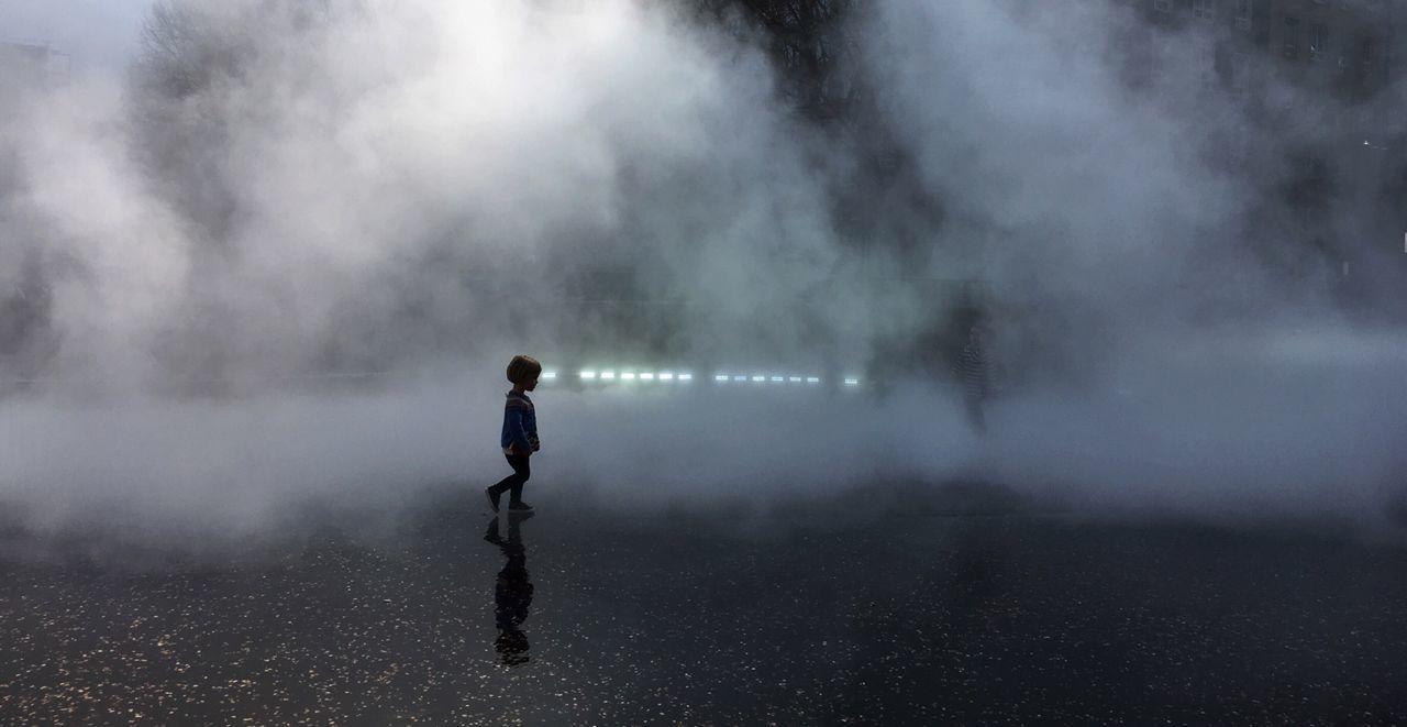 Street One Person Real People Day Fog Girl Young Child Walking Futurism Tate Modern London Bmwlive POTD Lights Startrek Mars The Photojournalist - 2017 EyeEm Awards