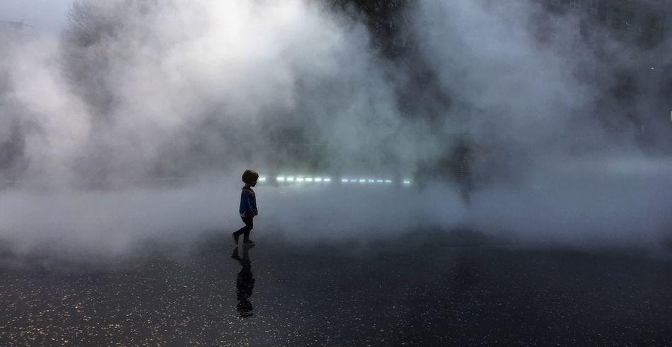 Street One Person Real People Day Fog Girl Young Child Walking Futurism Tate Modern London Bmwlive POTD Lights Startrek Mars