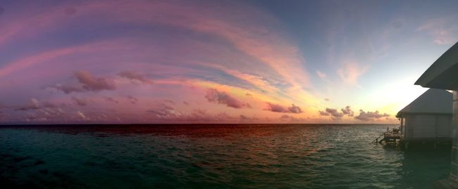 Wishing back to paradise Maledives Sea Water Horizon Over Water Sunset Tranquil Scene Beauty In Nature Tranquility Nature No Filter Paradise Corals Clear Water Ocean Honeymoon 2015  Panorama Wonderful