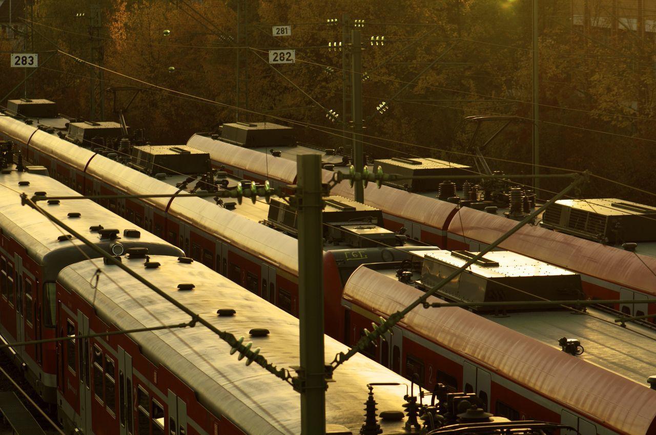 Autumn in Stuttgart Autumn Colors Autumn Leaves Autumn🍁🍁🍁 Fall Herbst Herbstfarben Herbstspaziergang Herbststimmung Herbst🍁 No People Railroad Track Rails Transportation