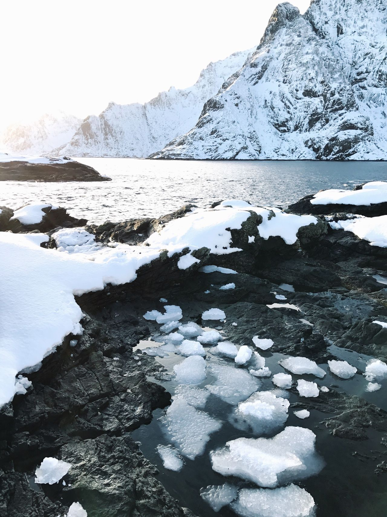 Ice Water Nature Frozen Snow Cold Temperature Mountain Winter Beauty In Nature Landscape Scenics Sky Polar Climate Outdoors Glacier Global Warming Cold No People Day Glacial The End Of The World Norway Lofoten Islands