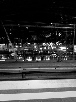 subway at Berlin Hauptbahnhof by Julia