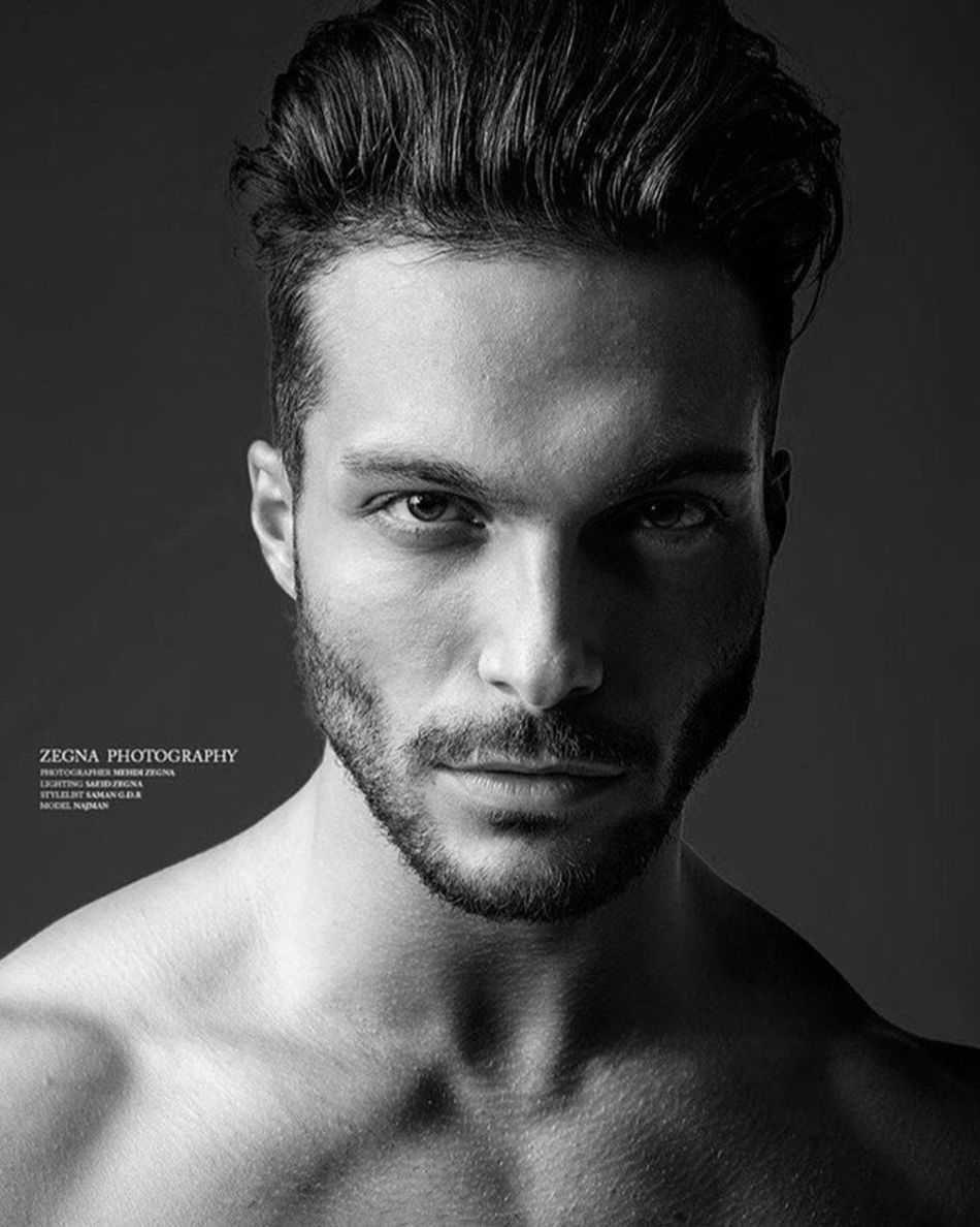 Black & White Fashion Photography Male Modeling Face Malemodel  Shahabkashefi Model Hot