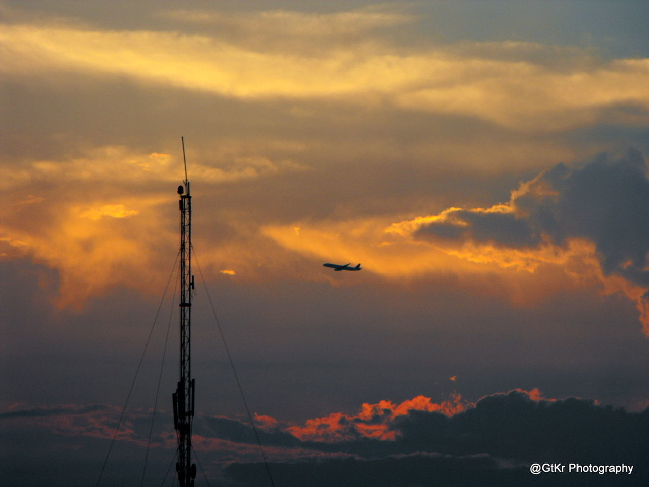 cloud - sky, sunset, sky, silhouette, transportation, flying, orange color, scenics, nature, mode of transport, outdoors, low angle view, beauty in nature, no people, nautical vessel, technology, bird, day, animal themes