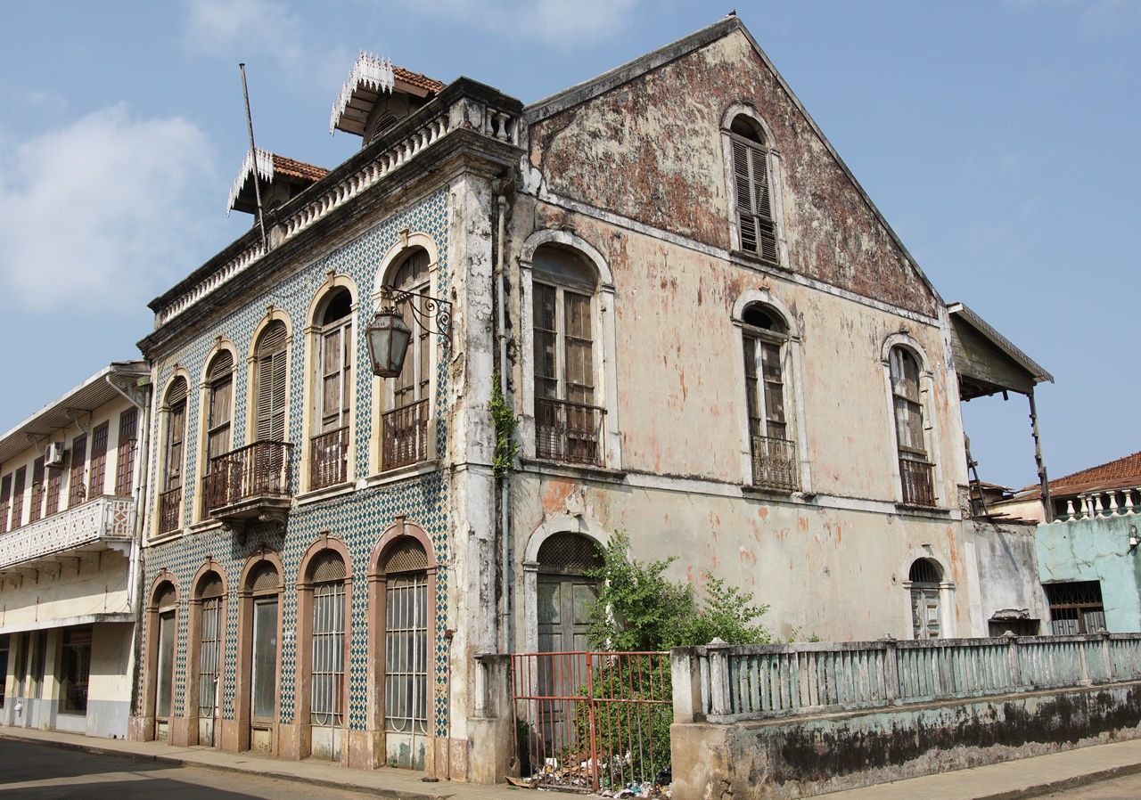 Sao Tome and Principe, Africa Africa Architecture Building Exterior Built Structure City City Life Colonial Architecture Day Famous Place Homes No People Outdoors Residential Building Sao Tome Sao Tome And Principe Tourism Tourist Attraction  Town Travel Travel Destinations Urban West Africa