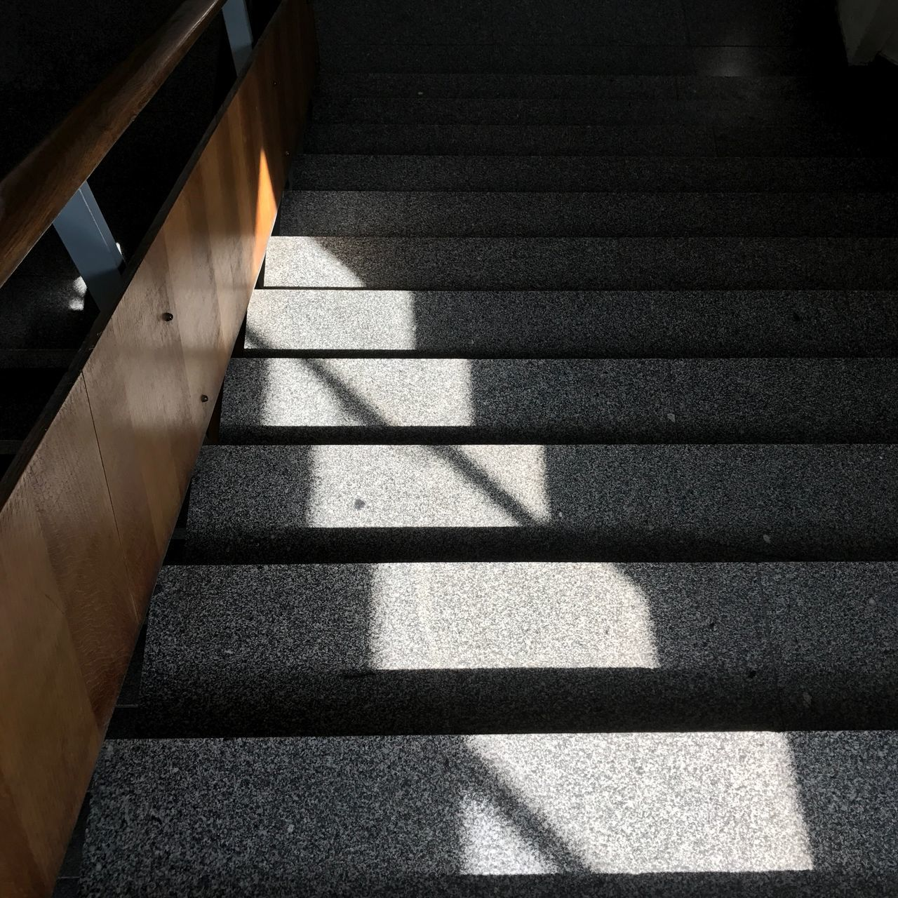 EyeEm Selects Staircase Shadow Steps And Staircases Steps Sunlight High Angle View No People Day Architecture Built Structure Indoors