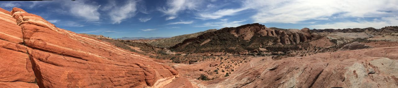 On A Hike Tranquility Tranquil Scene Rock Formation Rocks Mountain Range Sky Sky And Clouds Mountain Red Panorama IPhoneography IPhone 6s Plus Landscape Beauty In Nature Nature The Great Outdoors - 2016 EyeEm Awards
