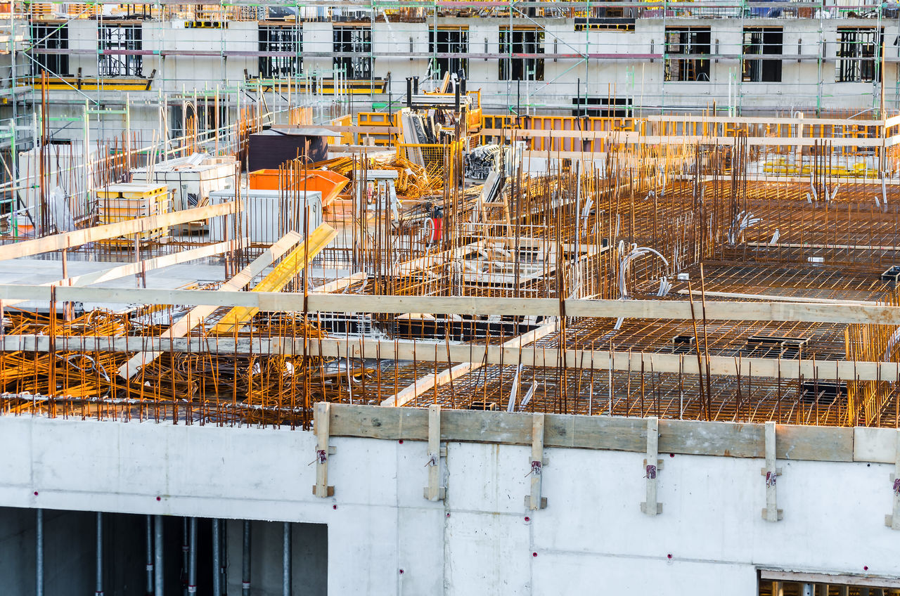 Buildings At Construction Site